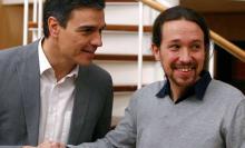 España, Pedro Sánchez y Pablo Iglesias, Supermercados