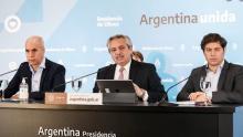 Horacio Rodríguez Larreta, Alberto Fernández, Axel Kicillof, Triunvirato de la Cuarentena