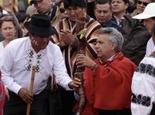 Lenín Moreno, Ritual, Ecuador