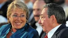 Michelle Bachelet, Raúl Castro, Narcoterrorismo, Narcotráfico, FARC, Cuba, La Habana, Izquierda