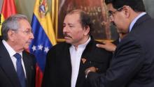 Nicaragua, Daniel Ortega, Nicolás Maduro, Raúl Castro