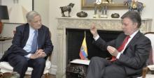 Juan Manuel Santos, George Soros