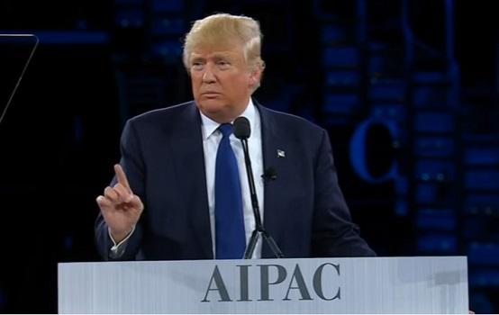 Donald Trump, AIPAC