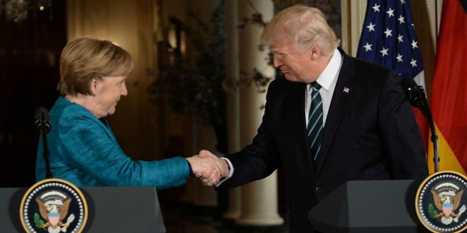Trump, Merkel