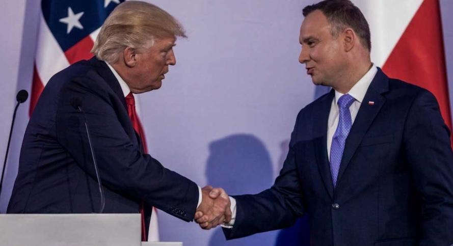 Trump, Polonia, Duda