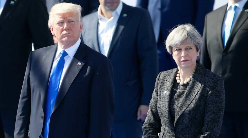 Trump, Theresa May