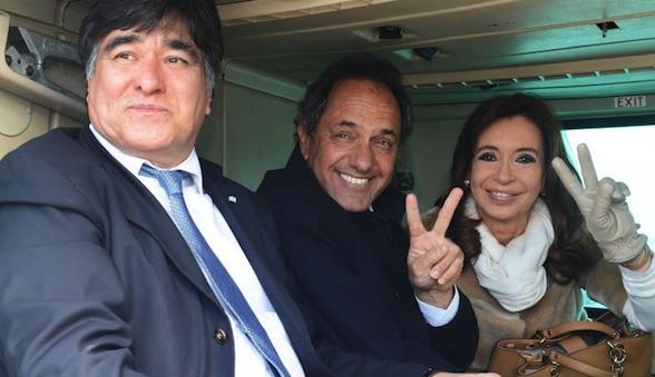 Scioli, Zannini, Cristina Kirchner