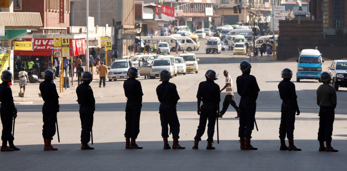 Zimbabue, fuerzas de policía, represión, ZANU MF